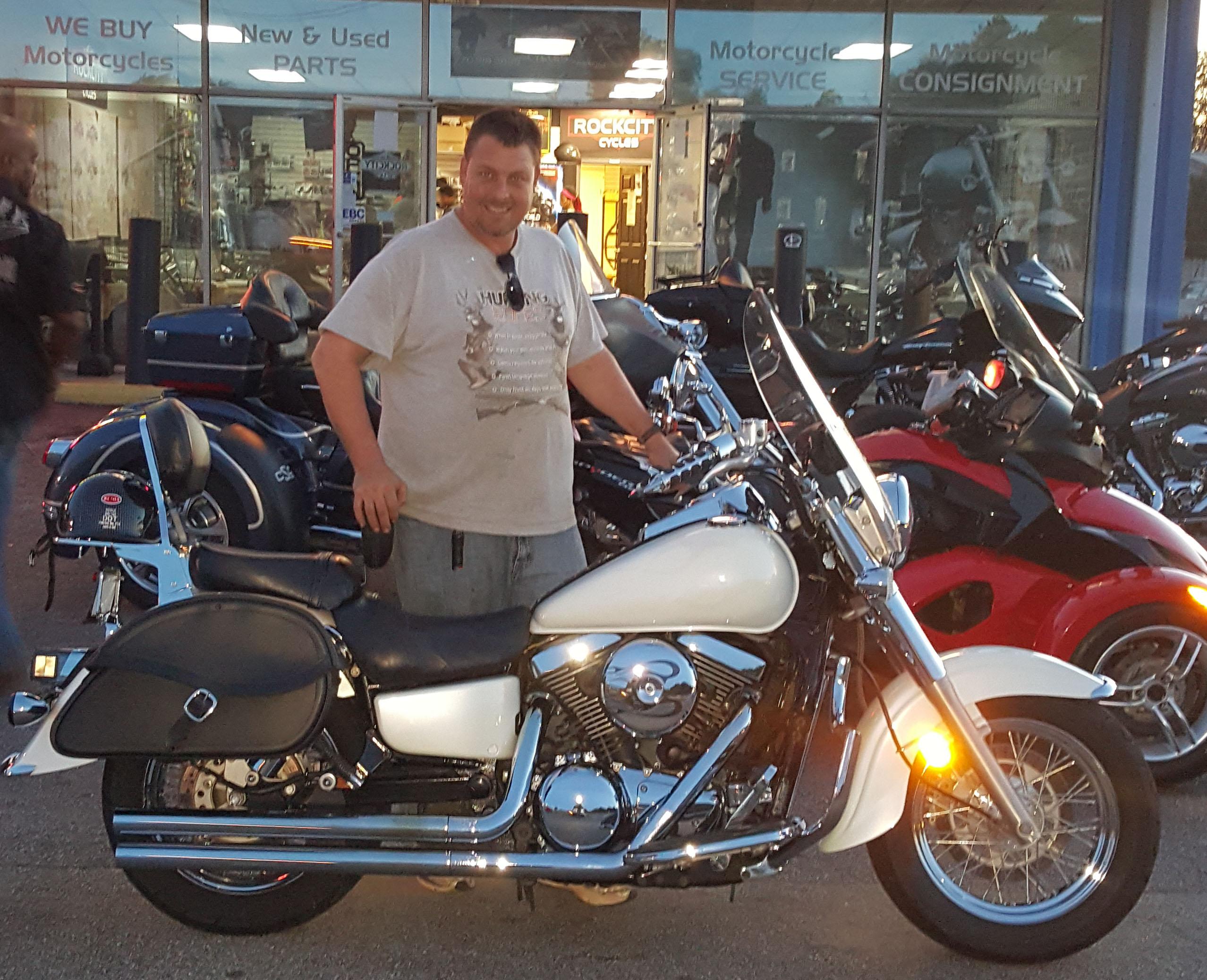 James R. with his 2004 Kawasaki Vulcan VN1500
