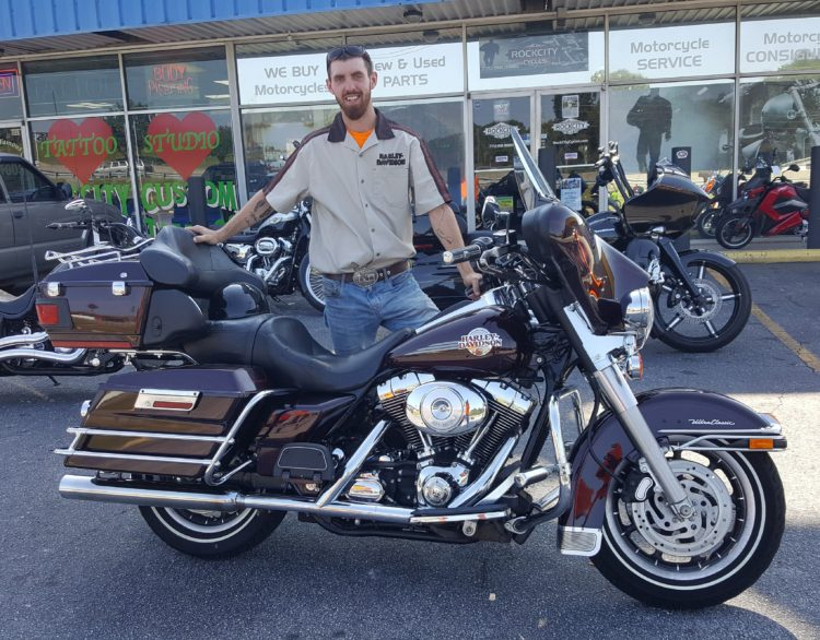 Tyler C. with his 2007 Harley-Davidson FLHTCUI Ultra Classic Electra Glide