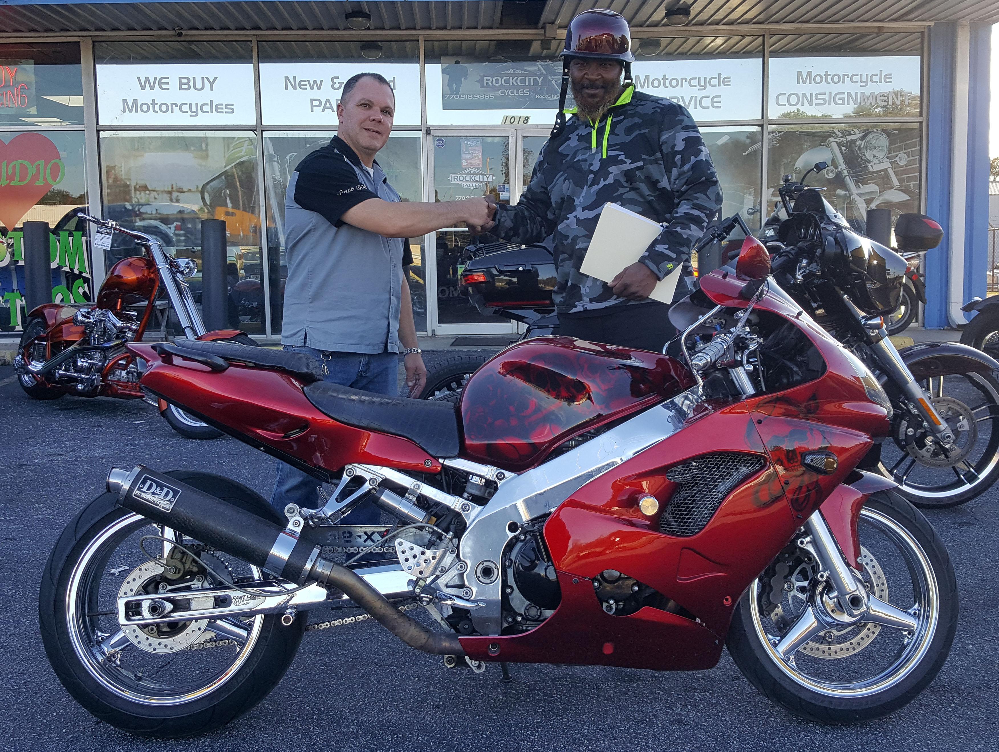 Christopher C. with his 2001 Kawasaki Ninja ZX-9
