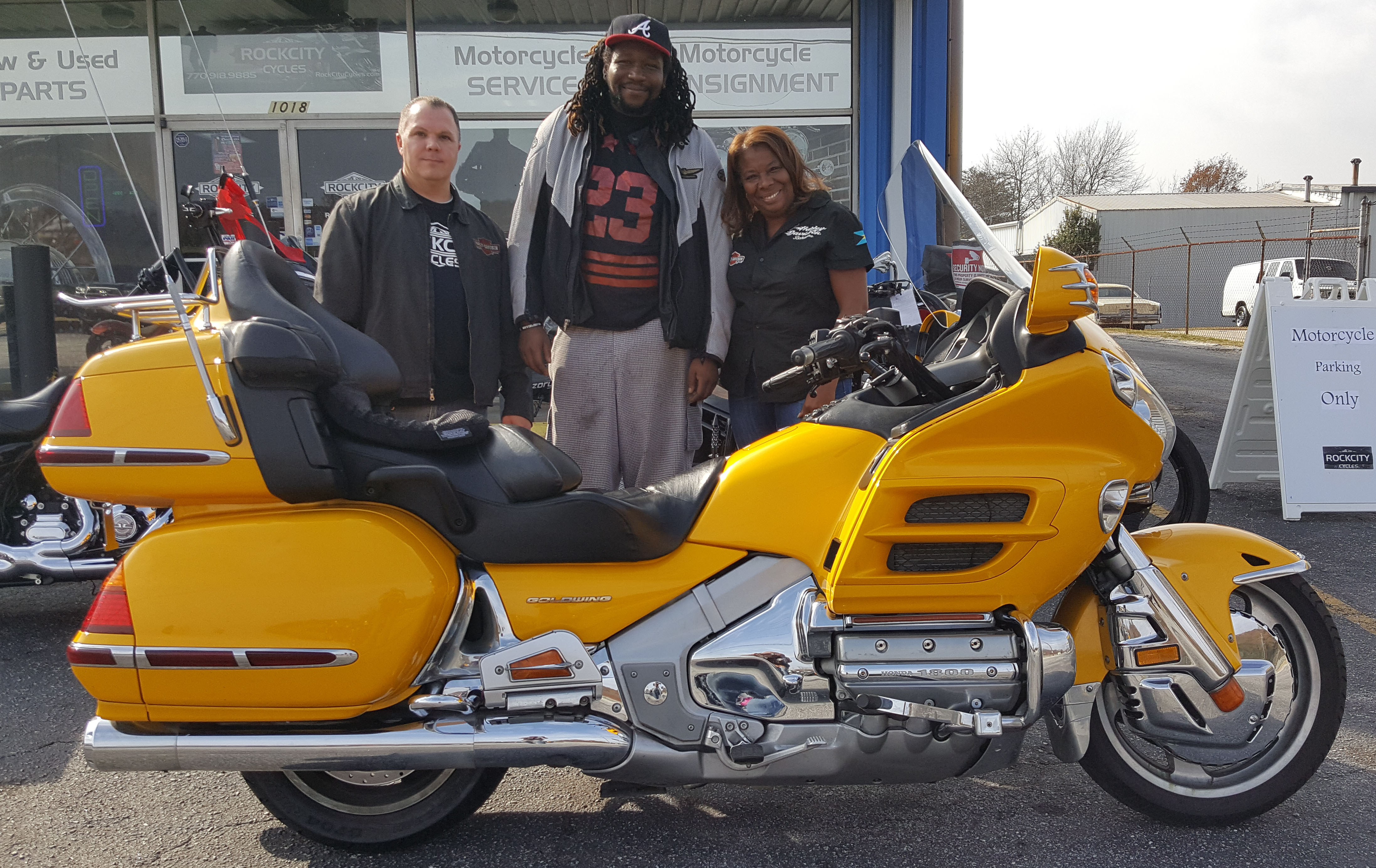 Sean P. with his 2002 Honda Gold Wing GL1800