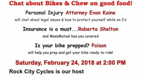 AFR (Atlanta Female Riders) CHAT N CHEW – Sat., Feb. 24, 2018