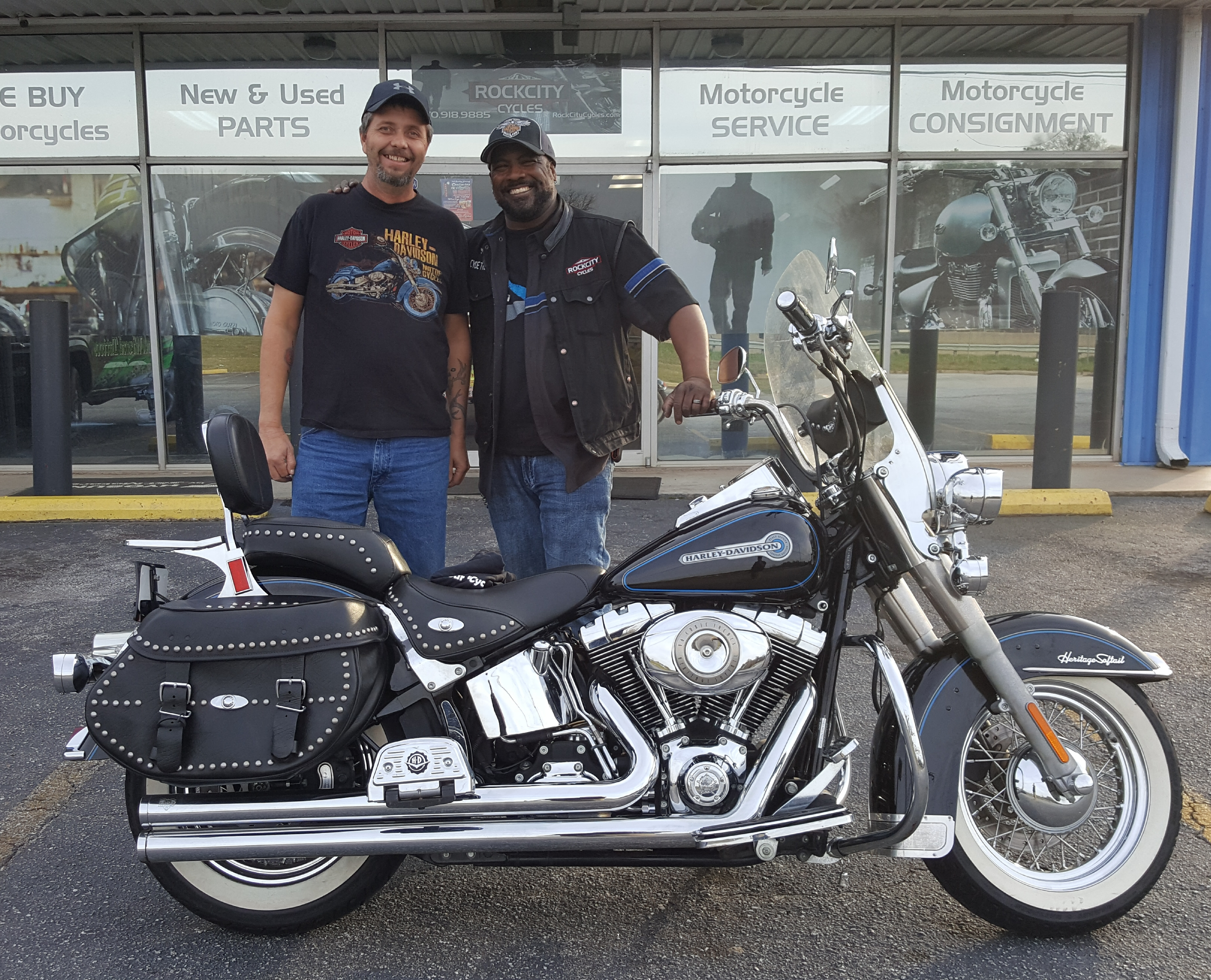 Billy B. with his 2007 Harley-Davidson FLSTC Heritage Softail Classic
