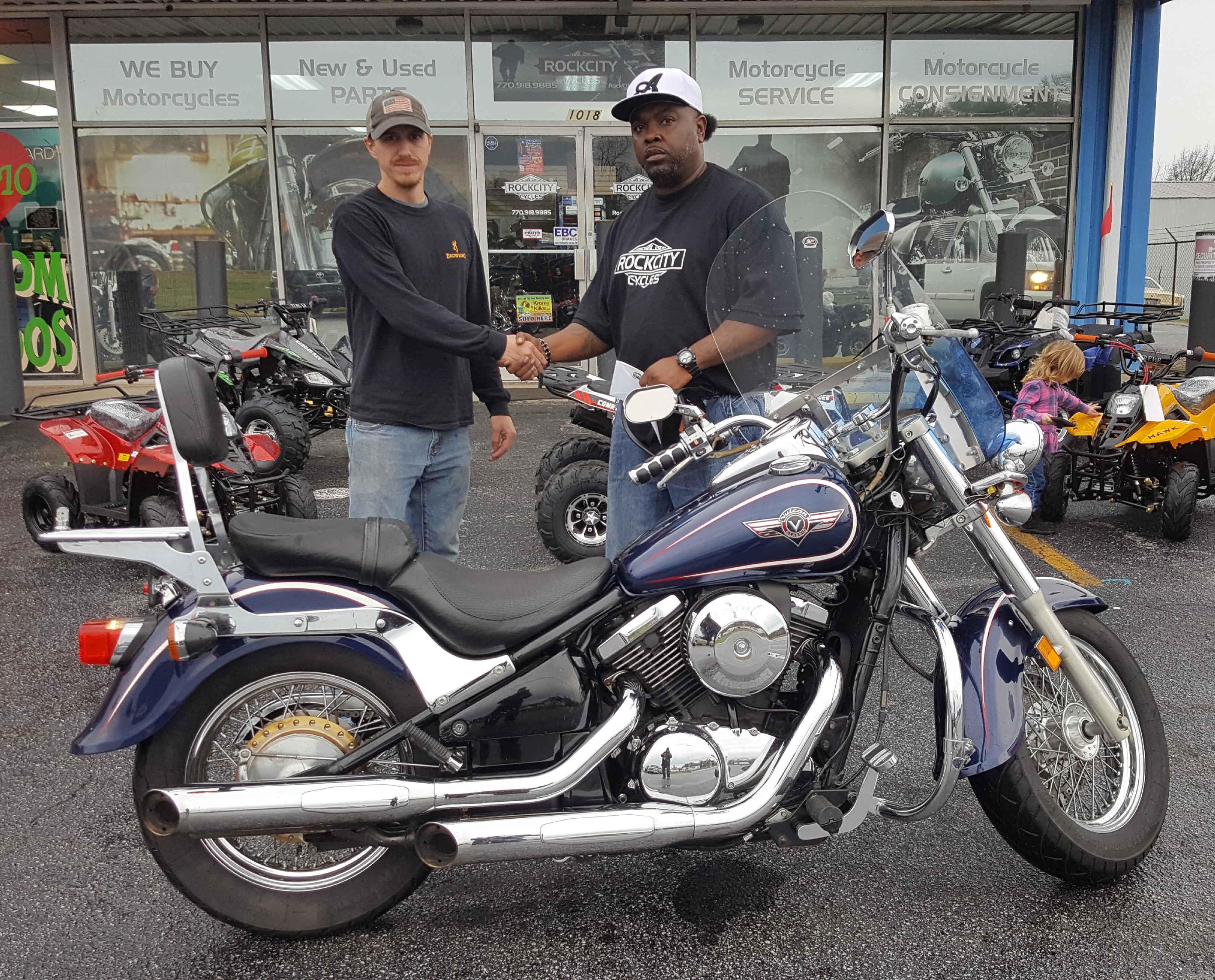Cory C. with his 2001 Kawasaki Vulcan VN800