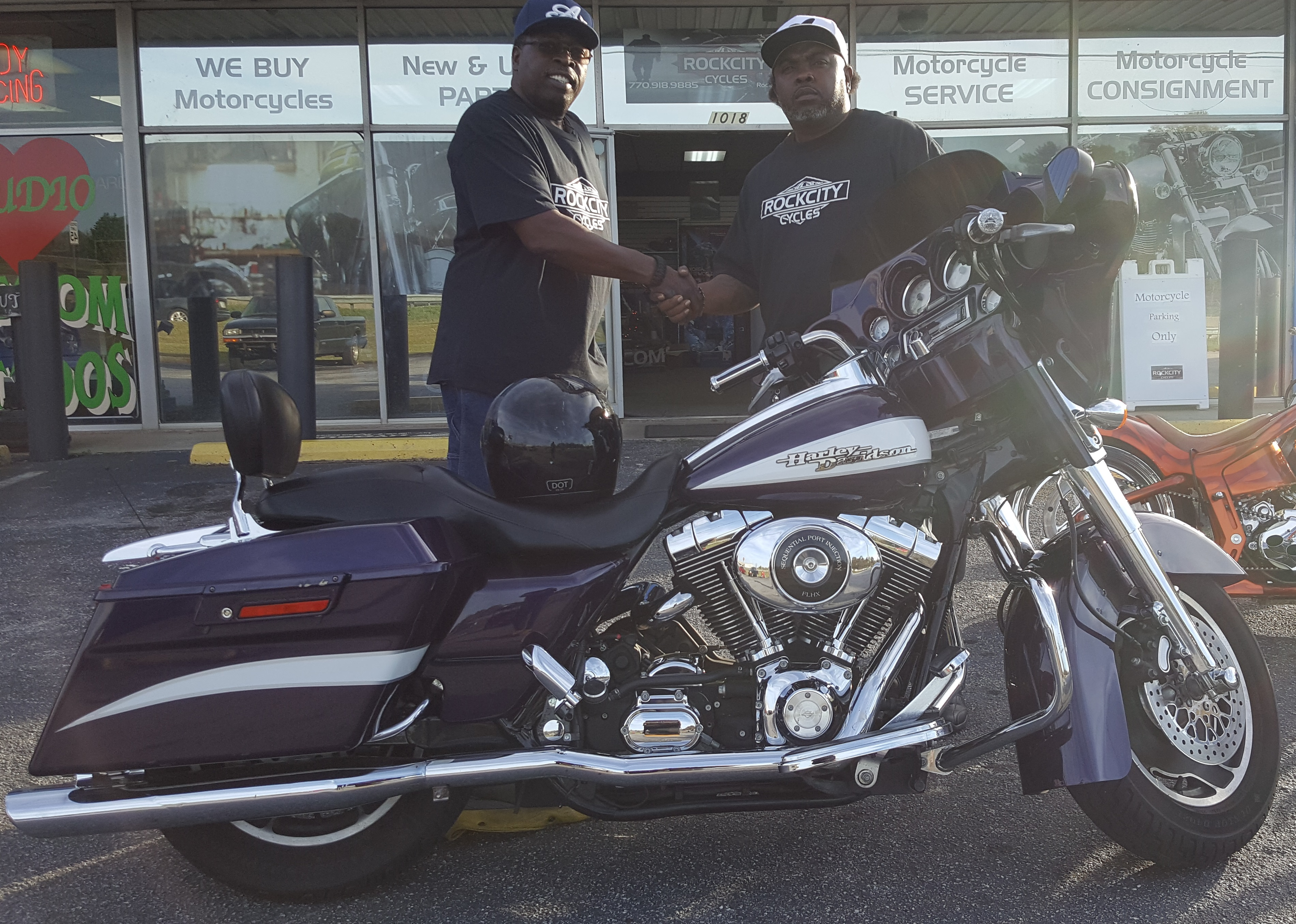 Eric E. with his 2006 Harley-Davidson FLHXI Street Glide