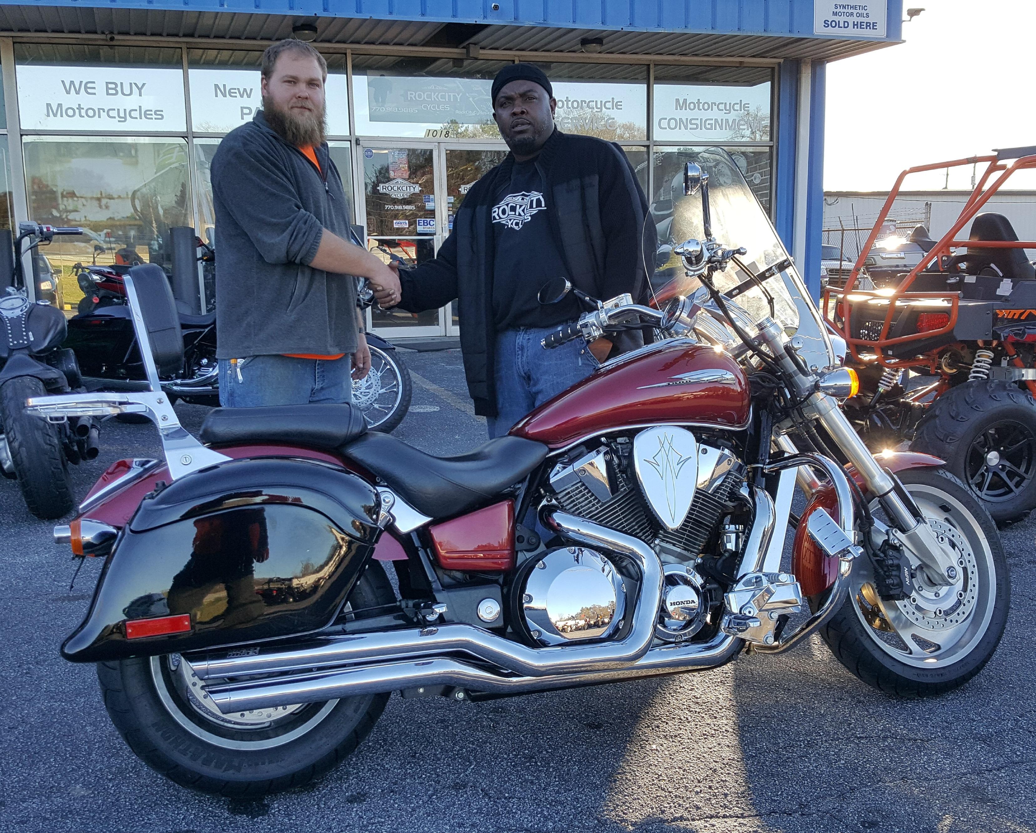 Joshua W. with his 2002 Honda VTX1800