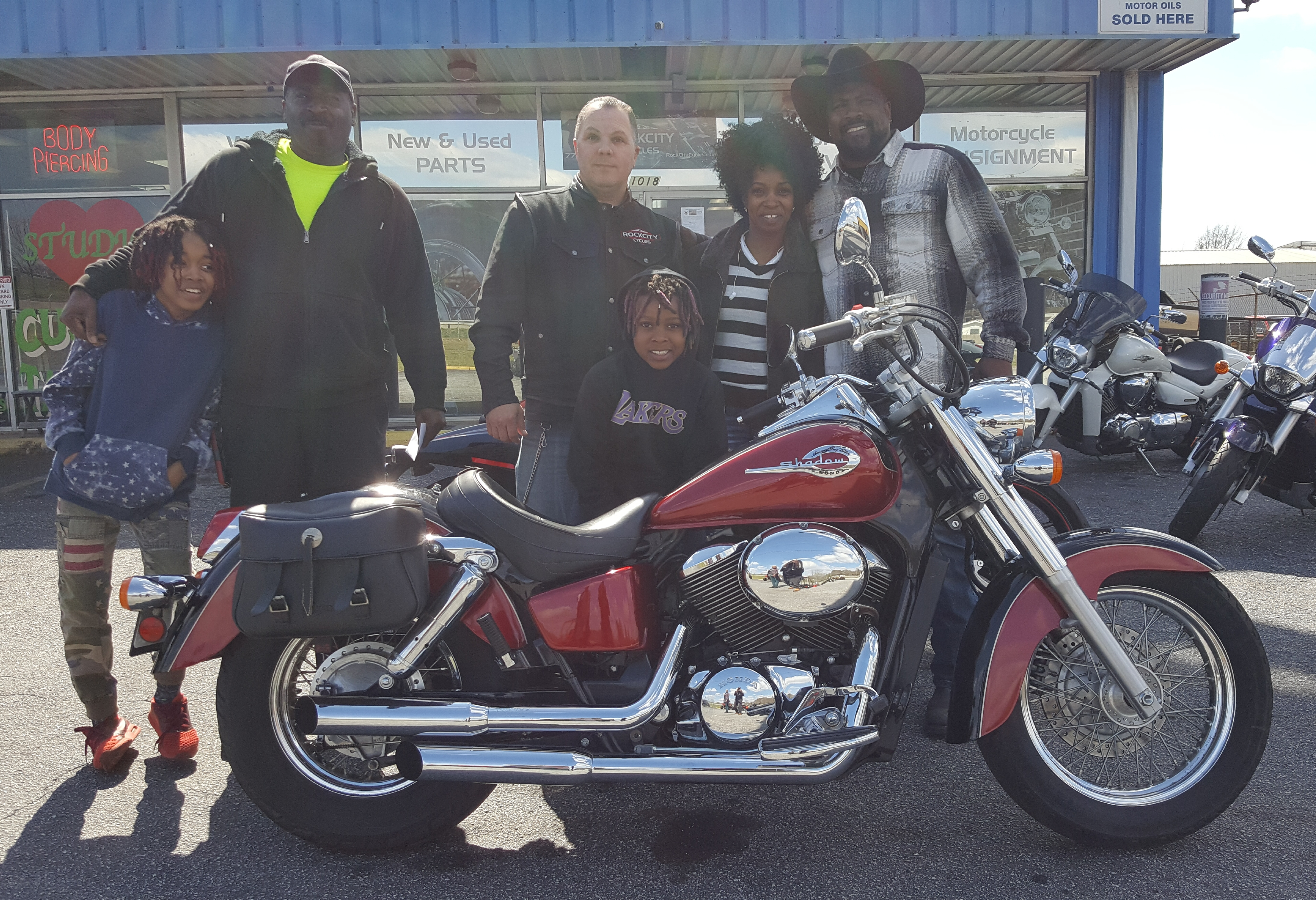 Paquetta W. with her 2003 Honda Shadow VT750