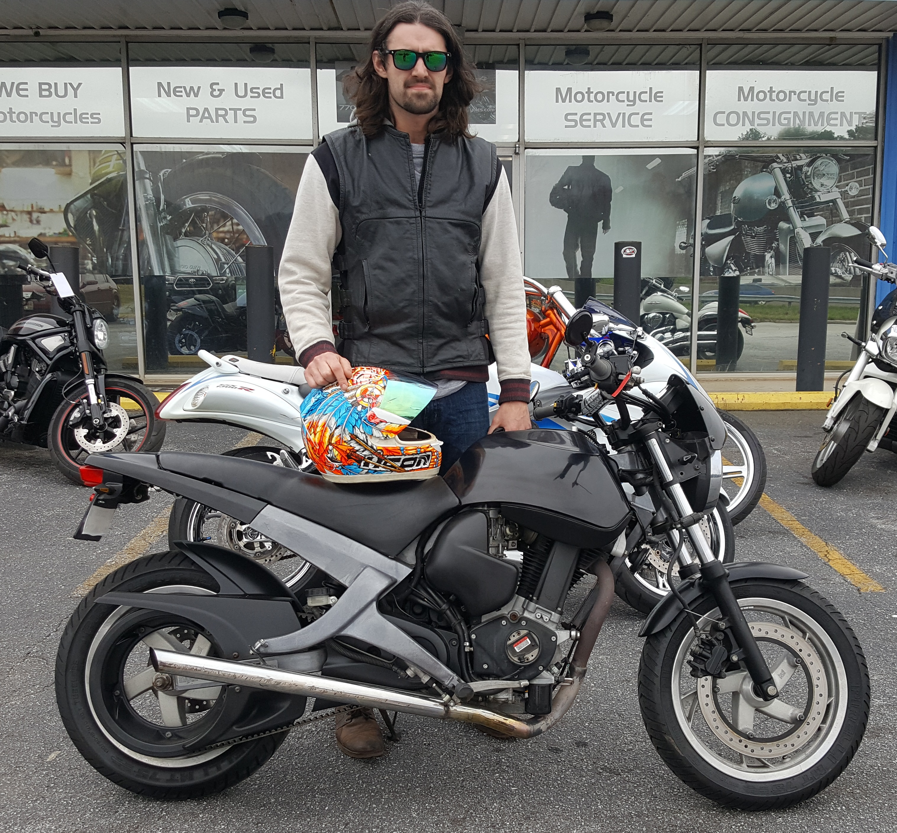Ryan J. with his 2001 Buell Blast