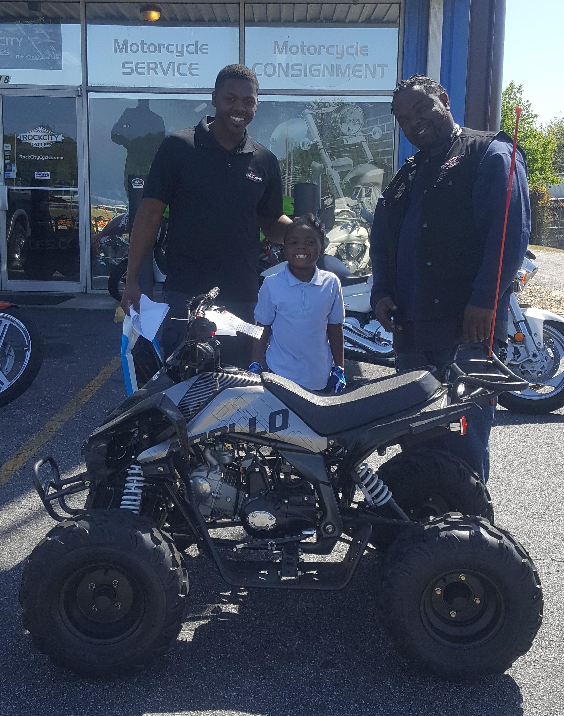 Bryan S. with his 2017 Apollo Blazer 125cc ATV