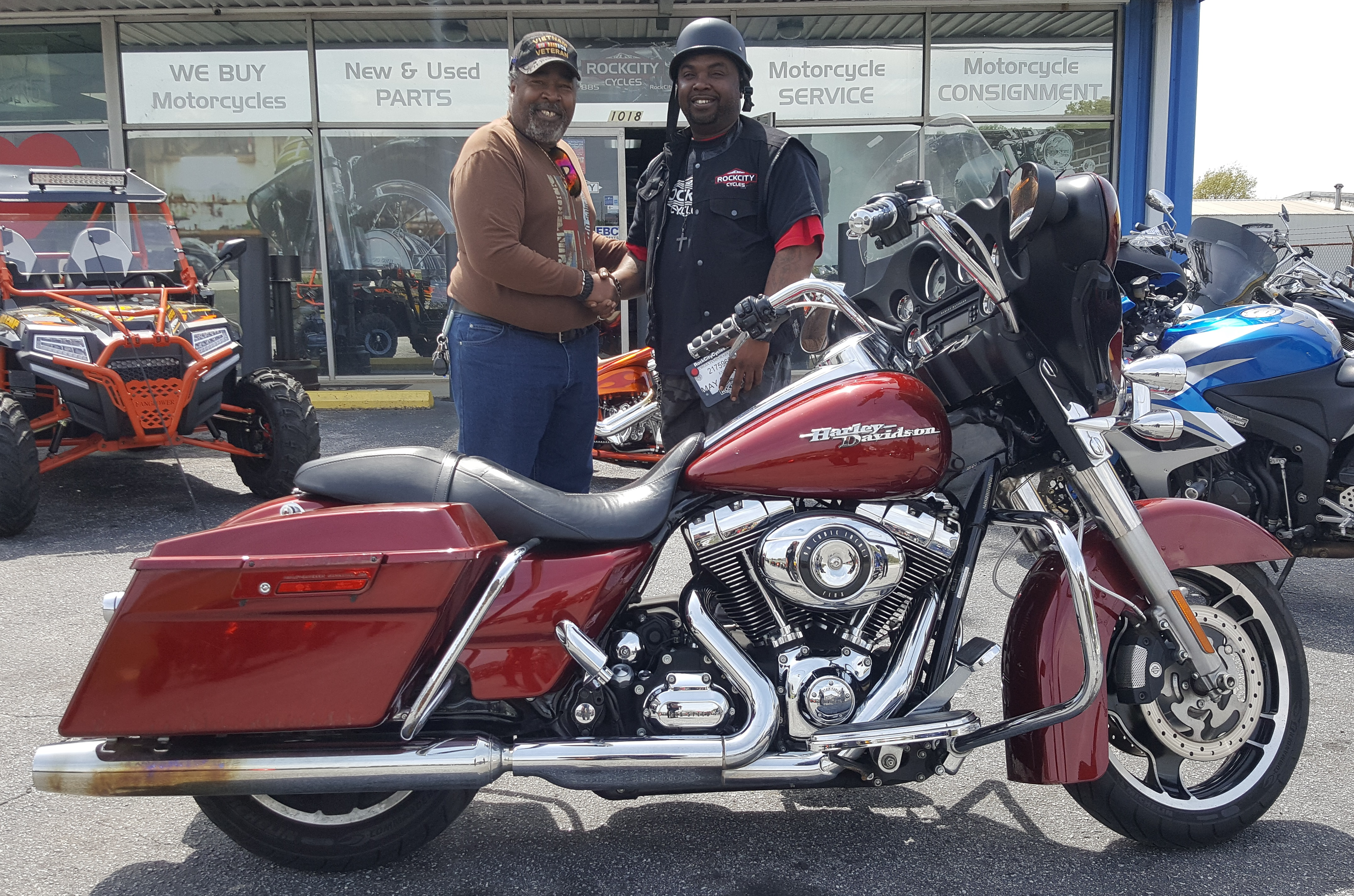 John E. with his 2010 Harley-Davidson FLHX Street Glide