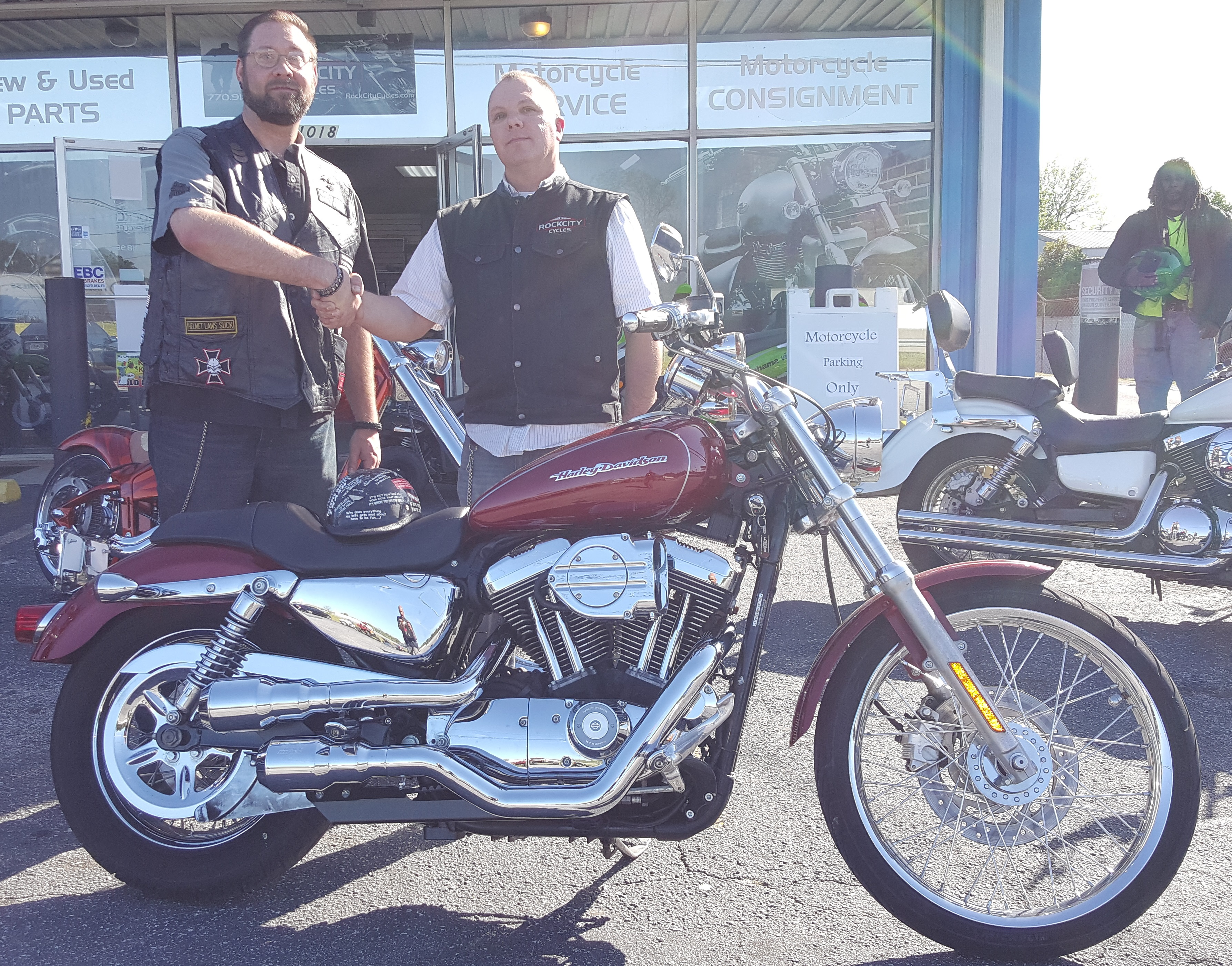 Scott N. with his 2007 Harley-Davidson XL1200 Sportster