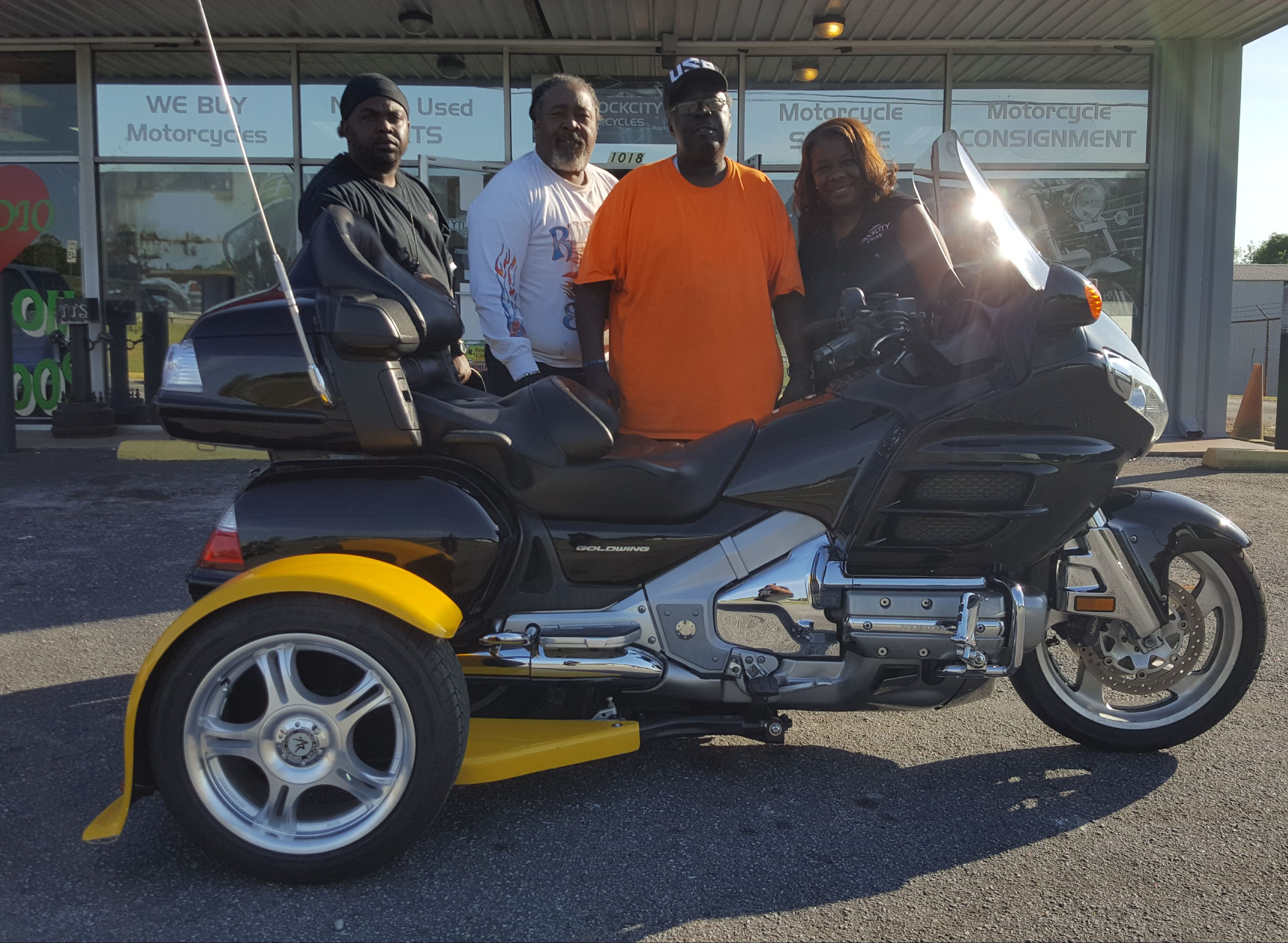 Charles E. with his 2002 Honda Gold Wing Trike