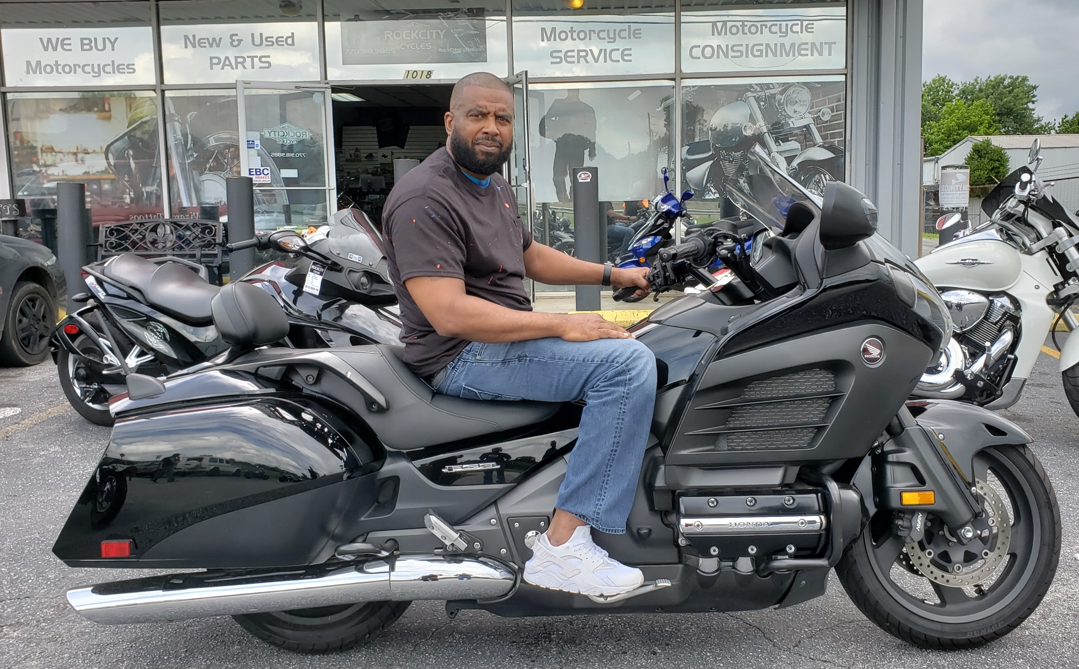 Eugene L. with his 2014 Honda Gold Wing F6B Deluxe
