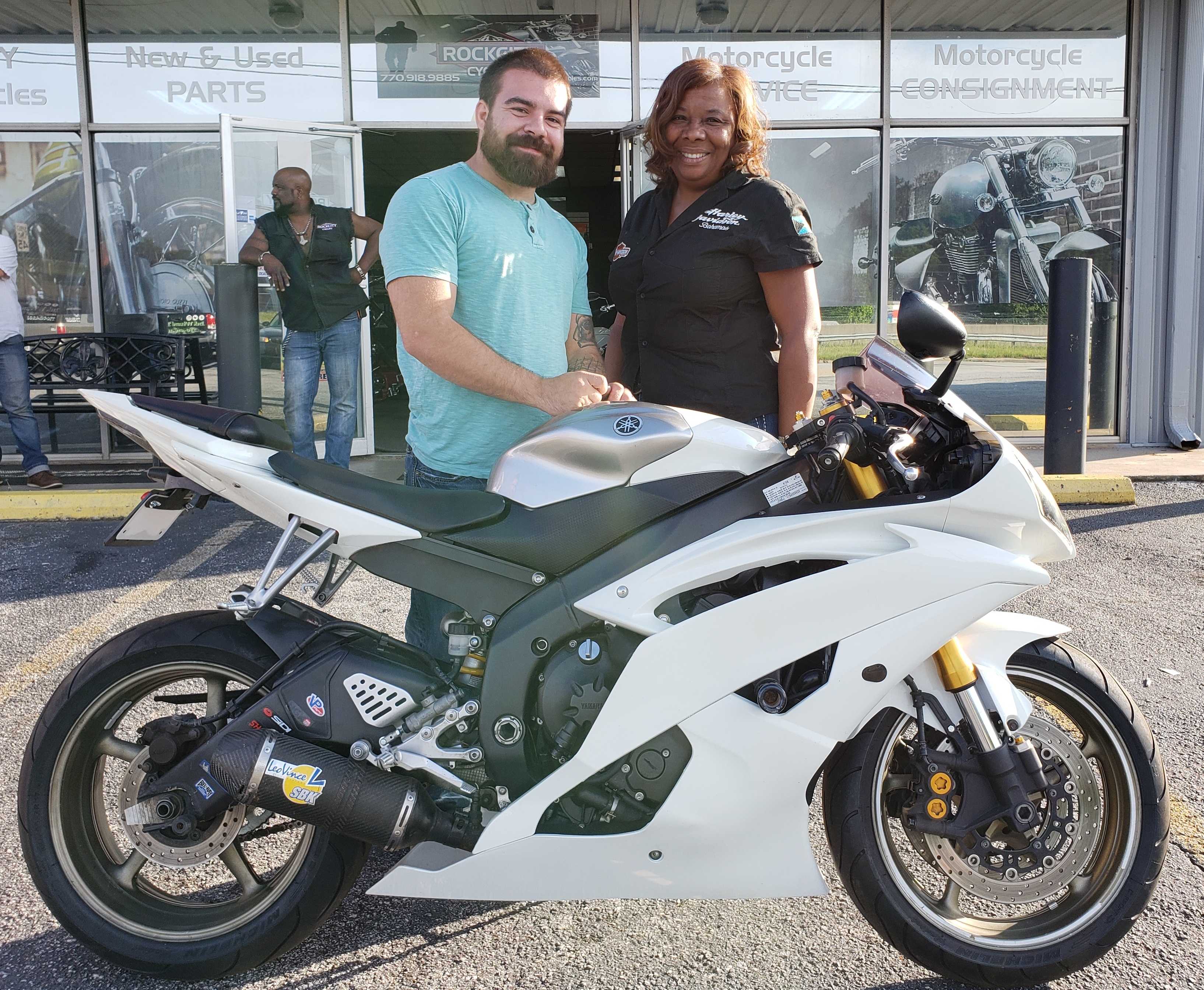 Vasilly K. with his 2008 Yamaha YZF R6