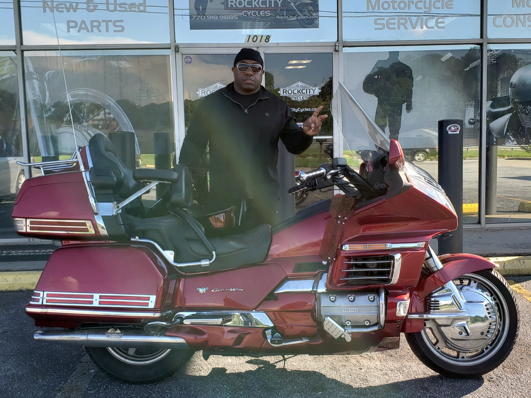 Christopher T. with his 1998 Honda Gold Wing Aspencade