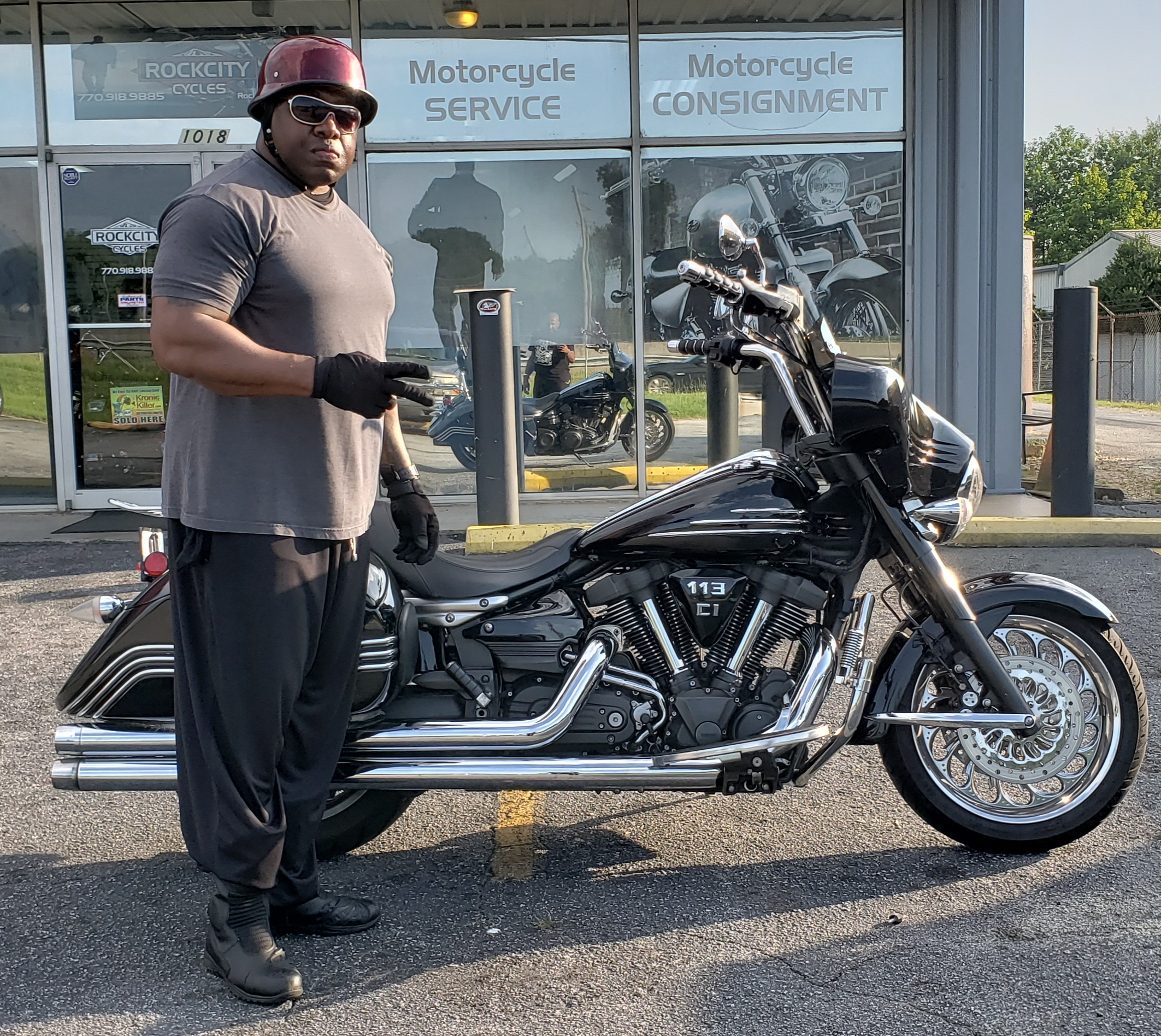 Christopher T. with his 2008 Yamaha Stratoliner