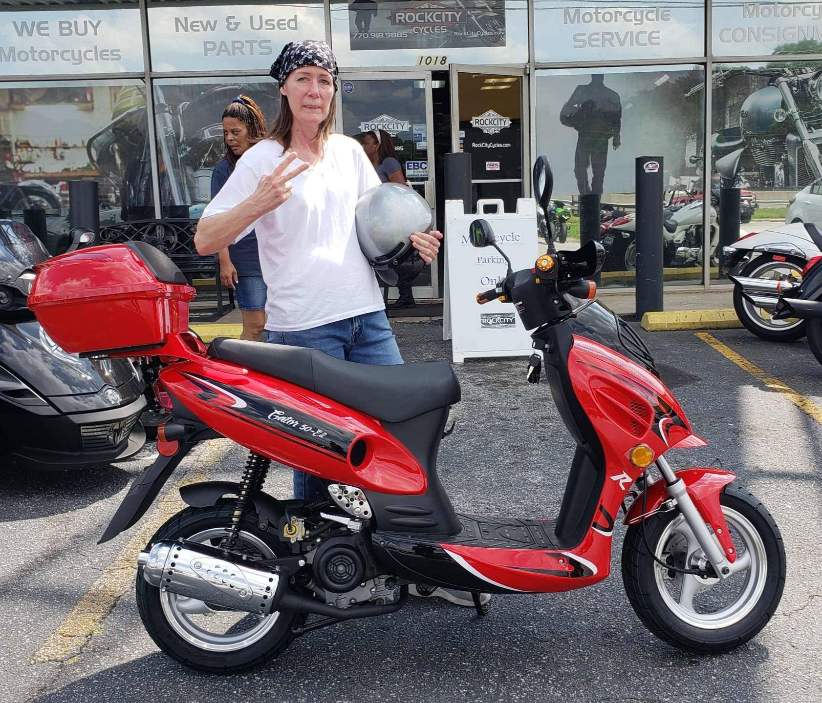 Lisa T. with her 2018 50cc Scooter