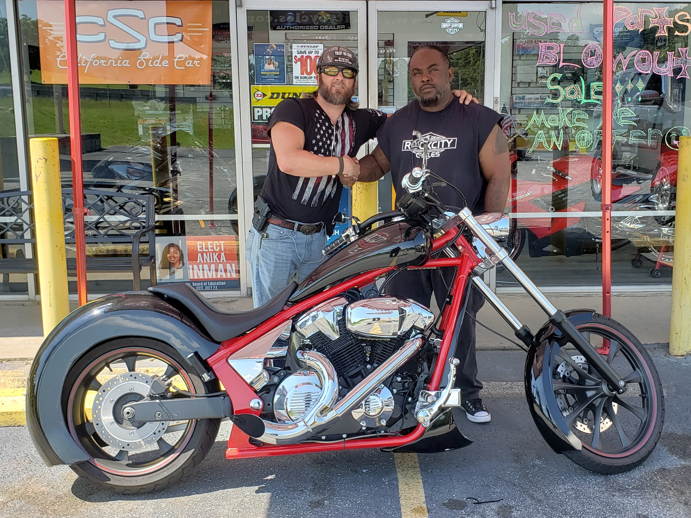 Davon S. with his 2012 Honda Fury