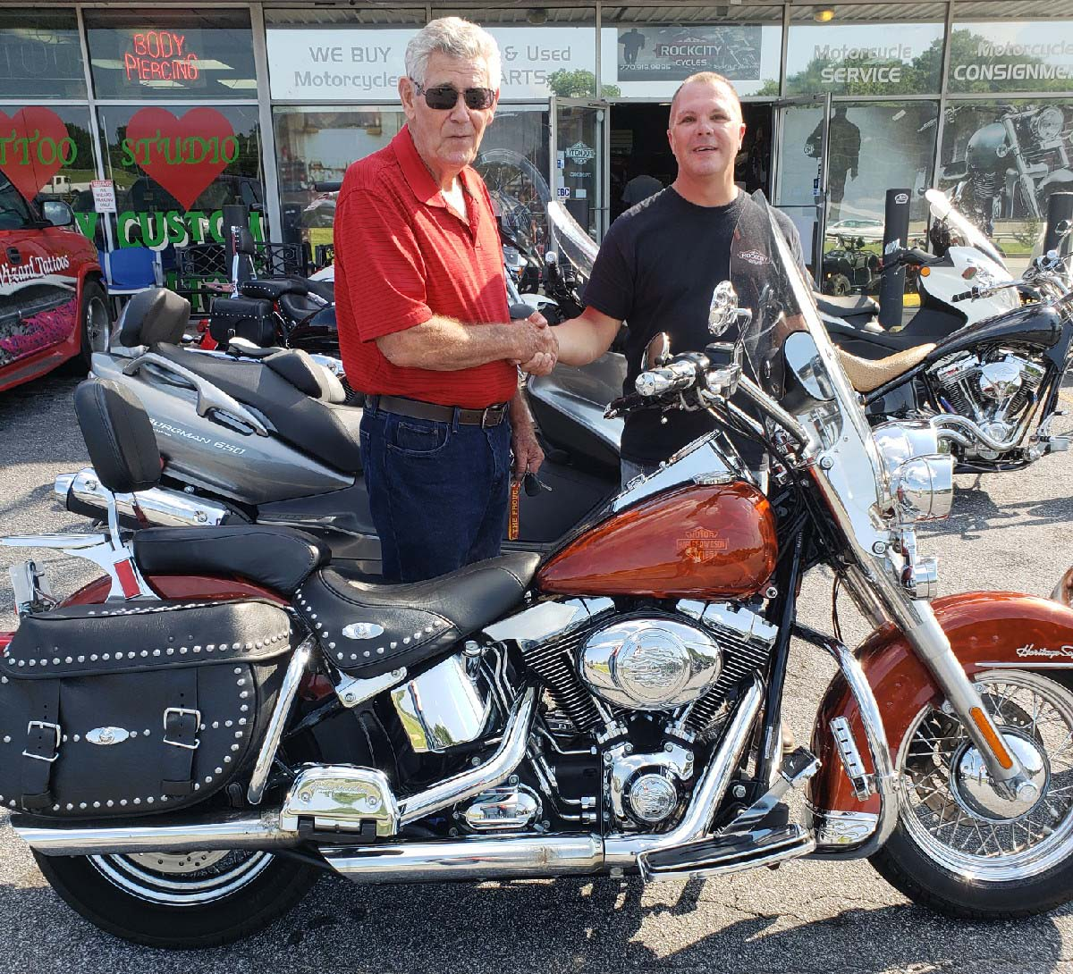 Morris K. with his 2008 Harley-Davidson Heritage Softail Classic