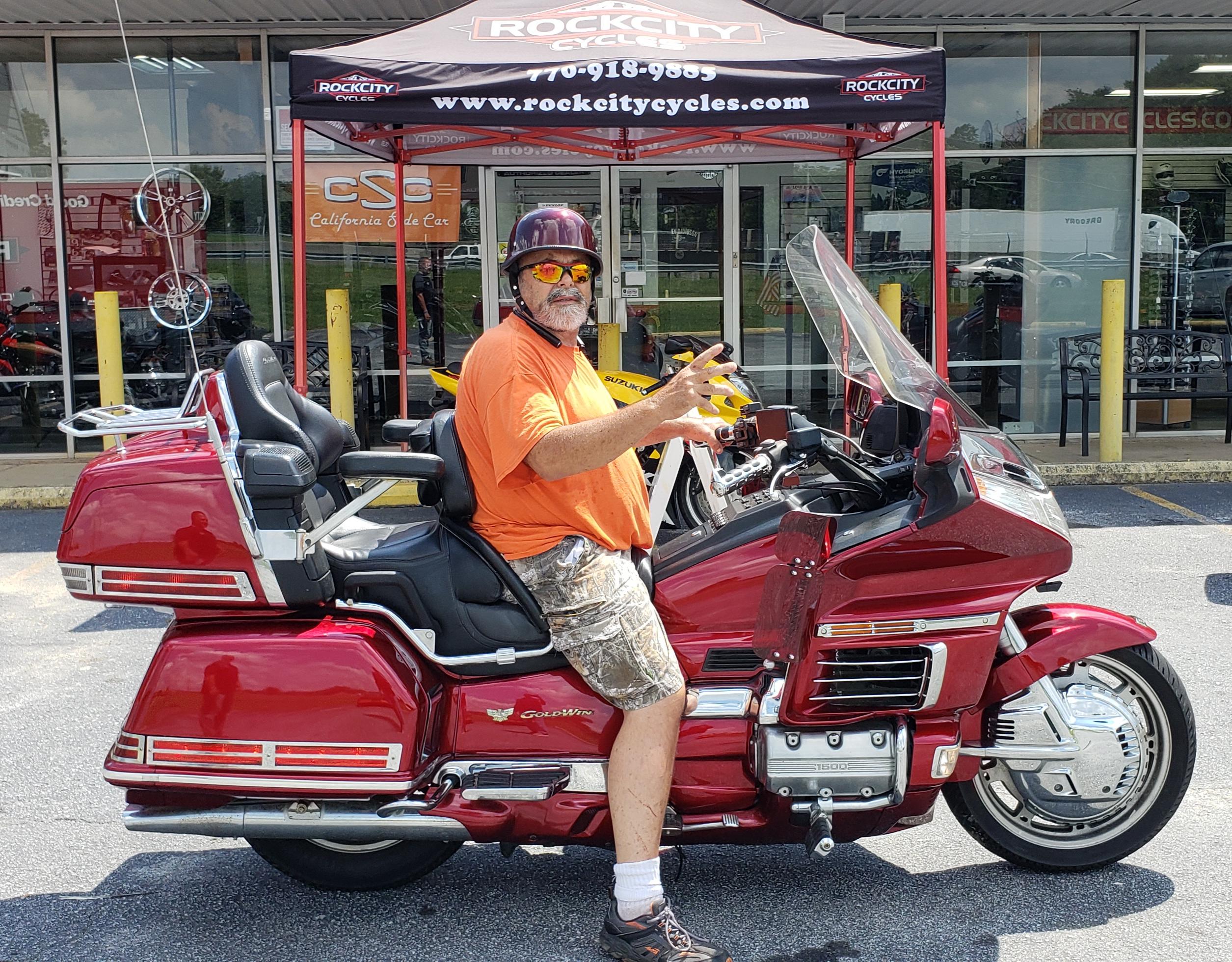 Thomas B. with his 1998 Honda Gold Wing Aspencade