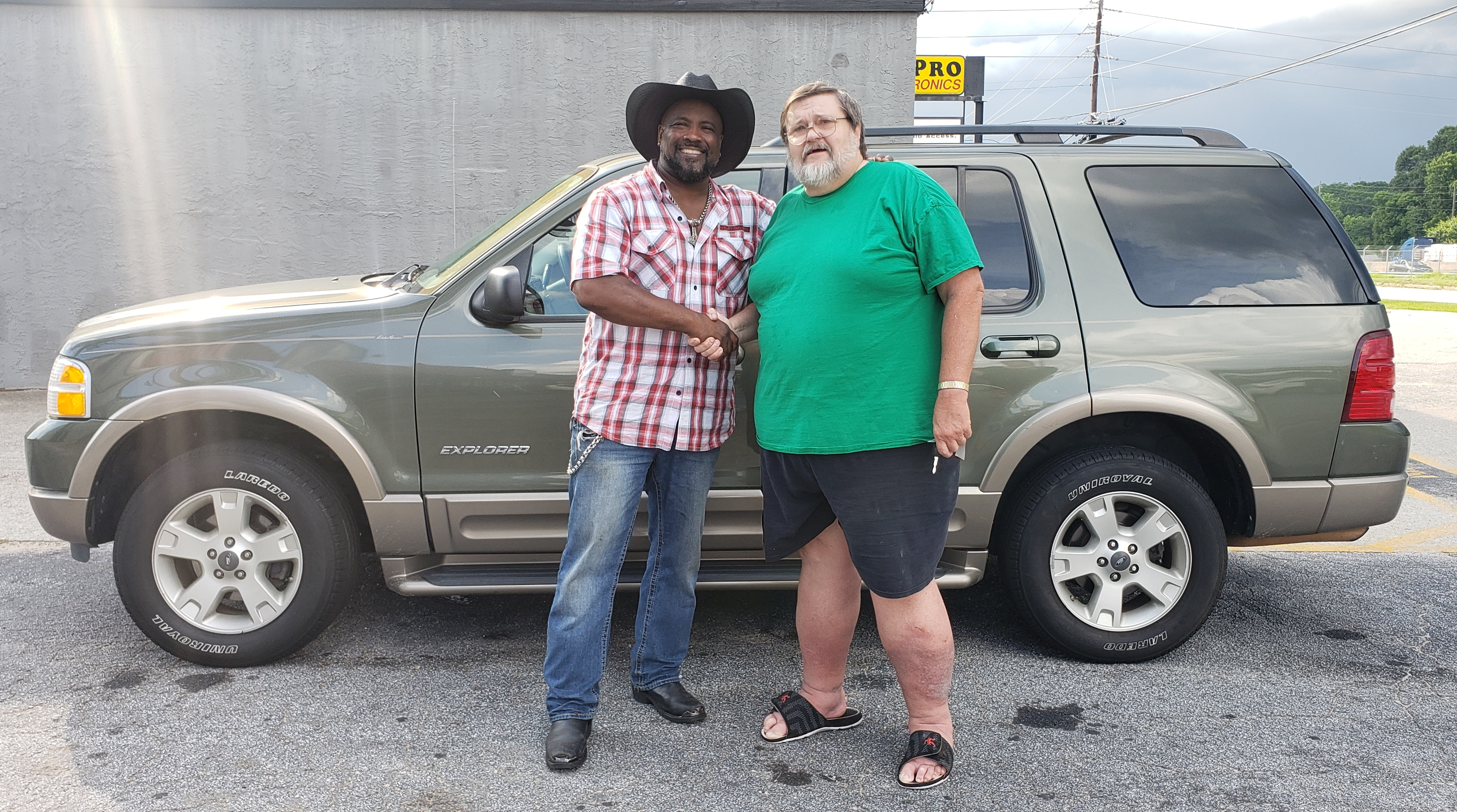 The Treadwells with their 2004 Eddie Bauer Ford Explorer