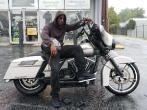 Dante T. with his 2008 HD FLHX Street Glide