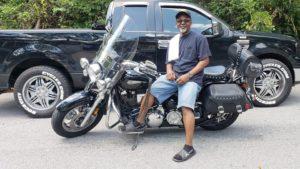 Ronald F. with his 2005 Yamaha Road Star Midnight Silverado