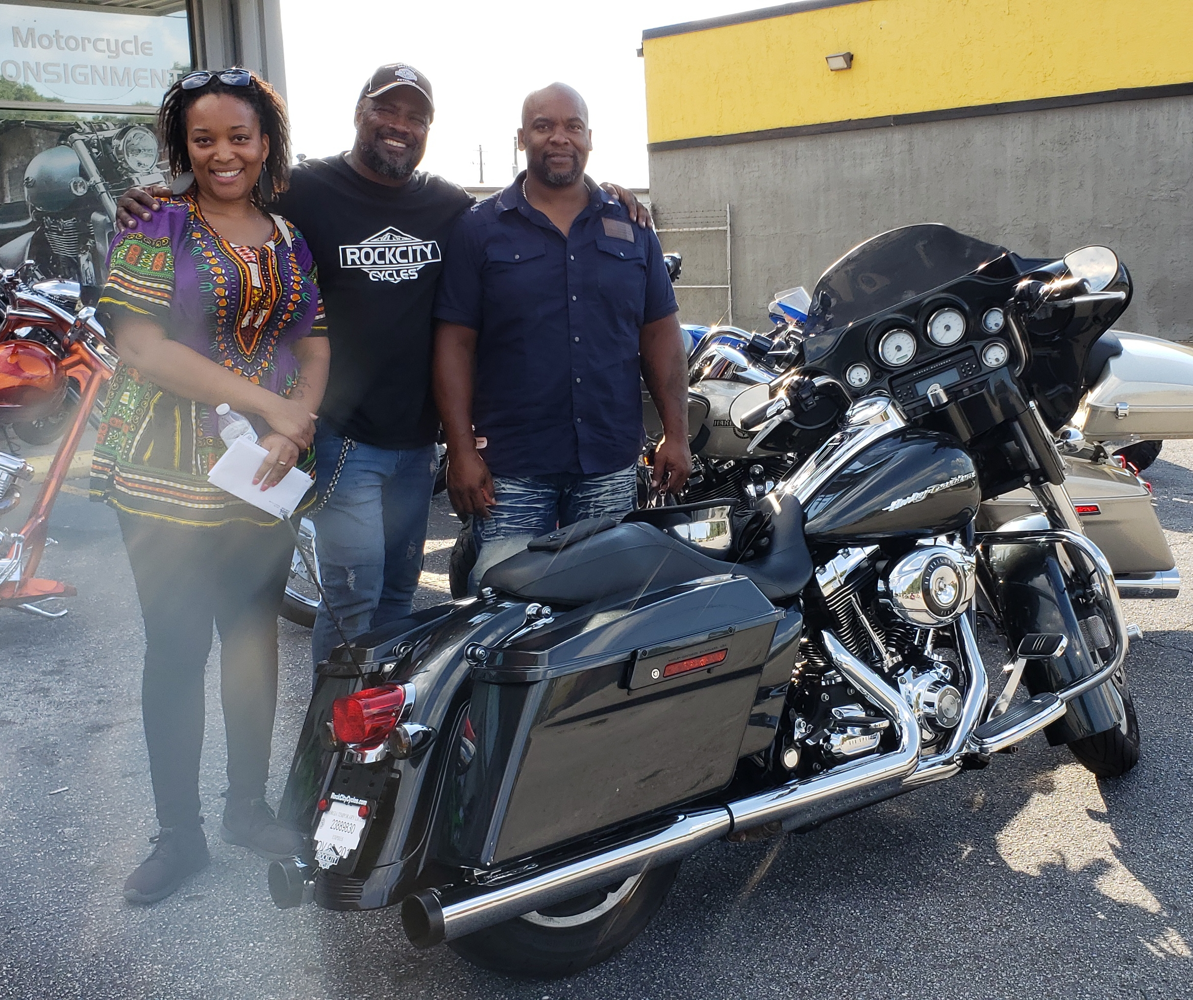 The Berry's with their 2009 Harley-Davidson FLHX Street Glide