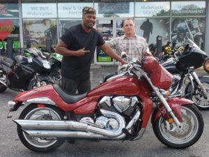 Antione M. with his 2007 Suzuki Boulevard M109R
