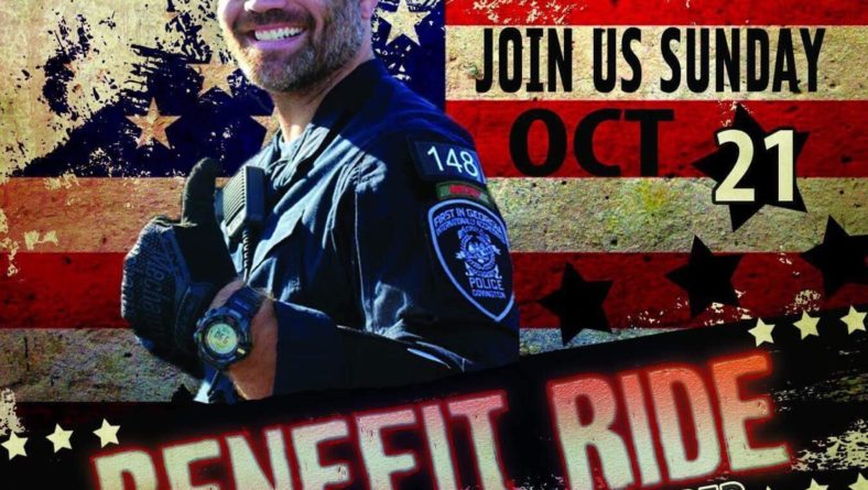 BENEFIT RIDE honoring OFFICER MATT COOPER of the Covington Police Department hosted by Iron Mules – Sun., 10/21/18