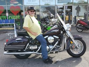 Jerry S. with his 2000 Kawasaki Vulcan VN1500