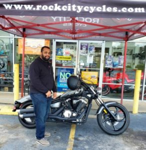 Luis S. with his 2014 Yamaha Stryker