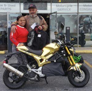 Jamila W. with her 2018 Rocket 50cc Scooter