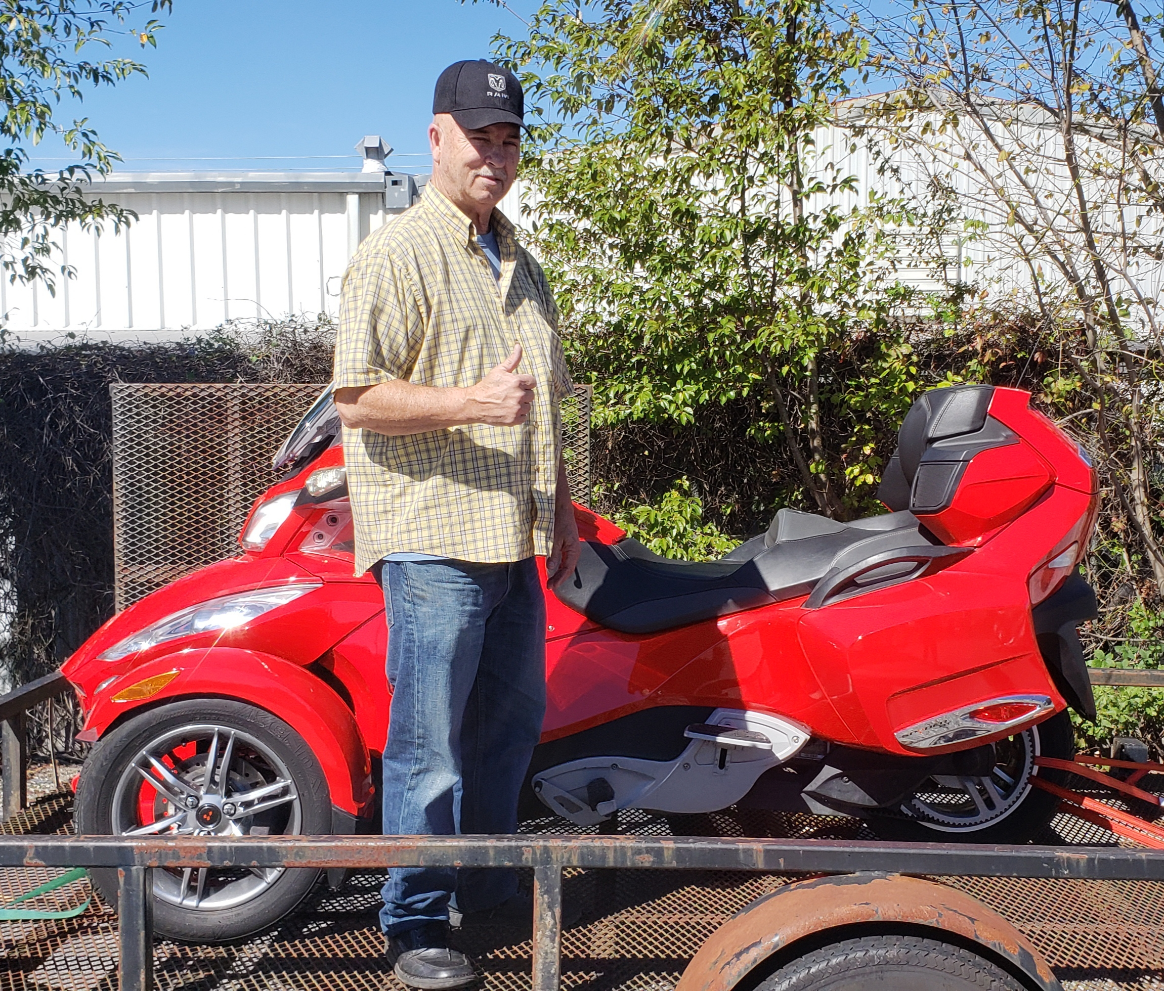 Phillip H. with his 2012 Can-Am Spyder RT