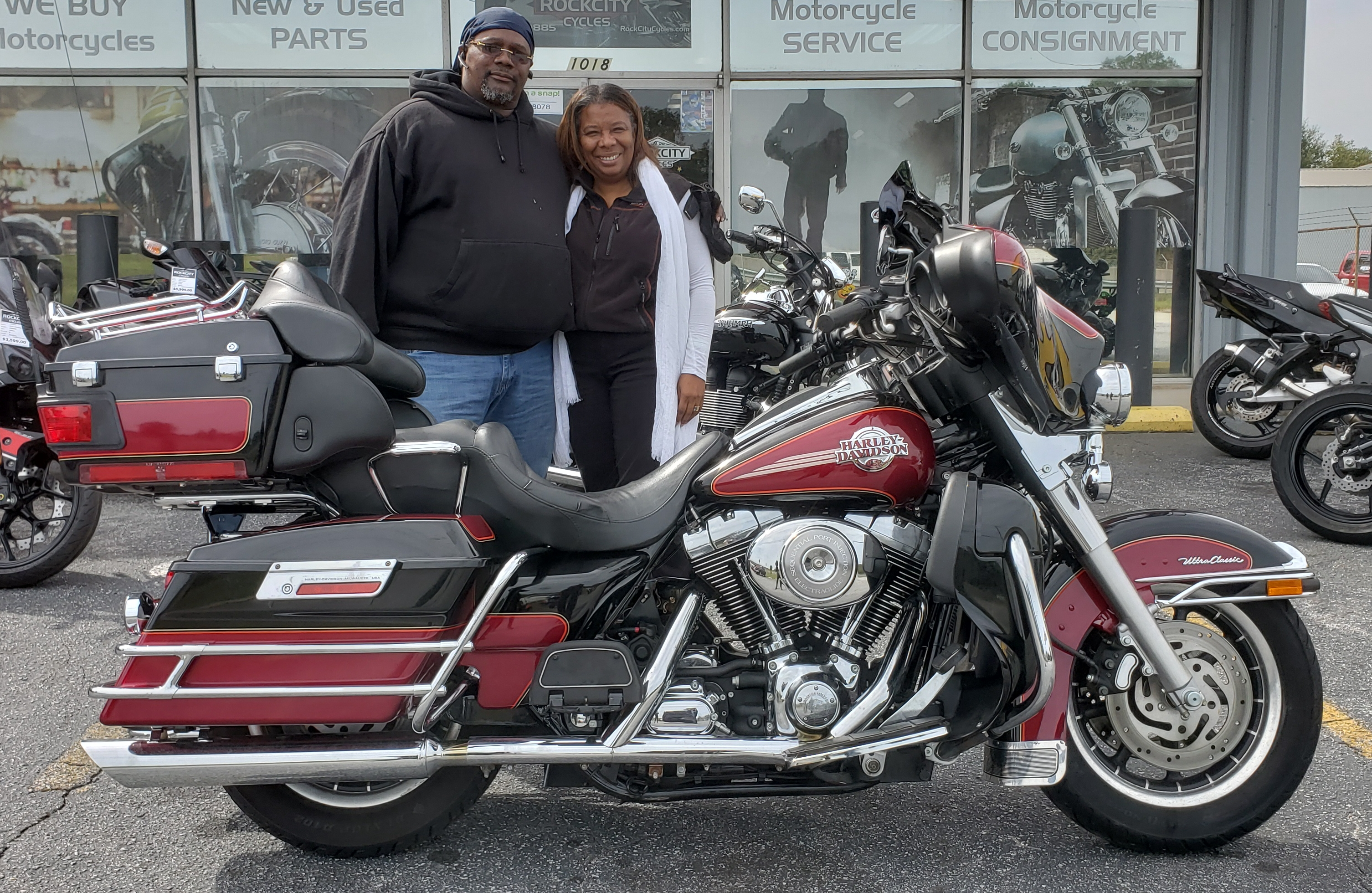Travis L. with his 2005 Harley-Davidson Ultra Classic Electra Glide