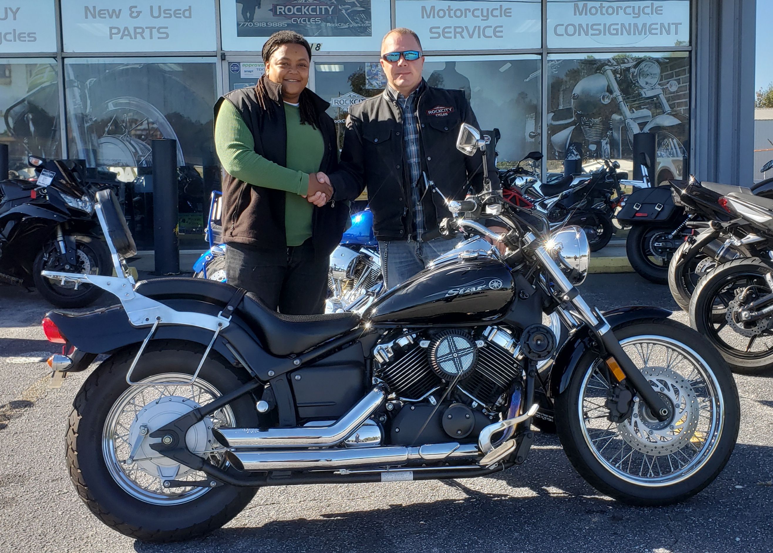 Candice M. with her 2008 Yamaha XVS650