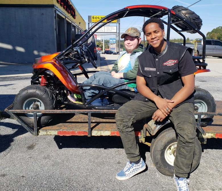 Dustin C. with his 2018 Go Cart