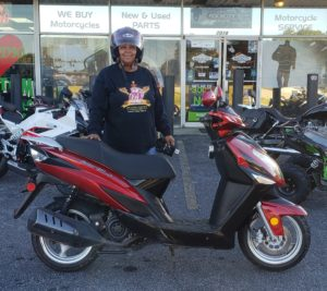 Janice S. with her 2015 Gator 150 Scooter
