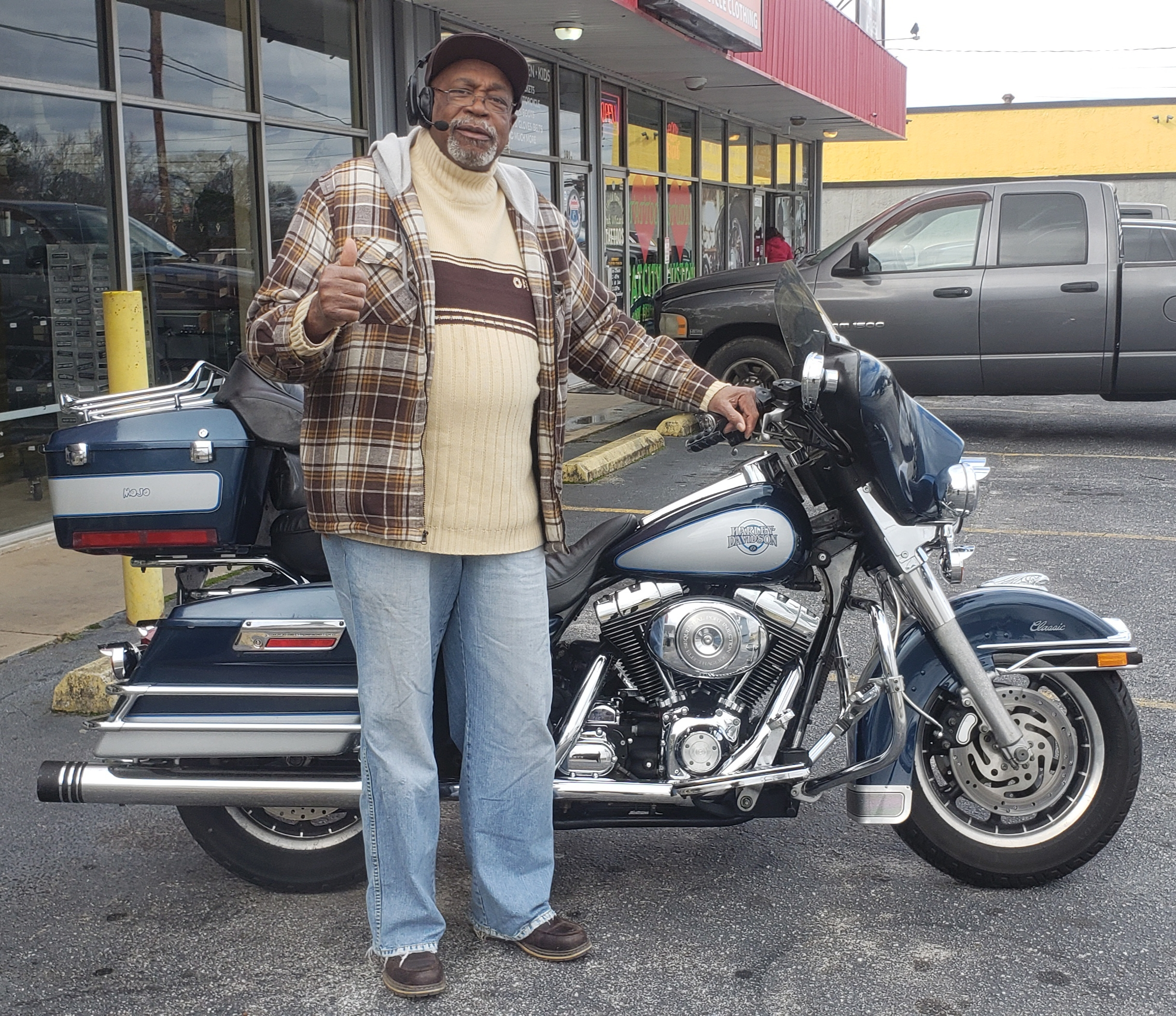 Joe F. with his 2001 Harley-Davidson FLHTC Electra Glice Classic