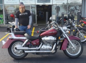 Christopher J. with his 2006 Honda Shadow VT750