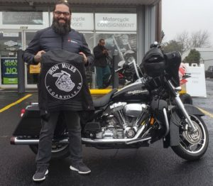 Hector S. with his 2006 Harley-Davidson FLHT Electra Glide