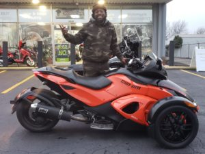 Marcell W. with his 2014 Can-Am Spyder RS SE5