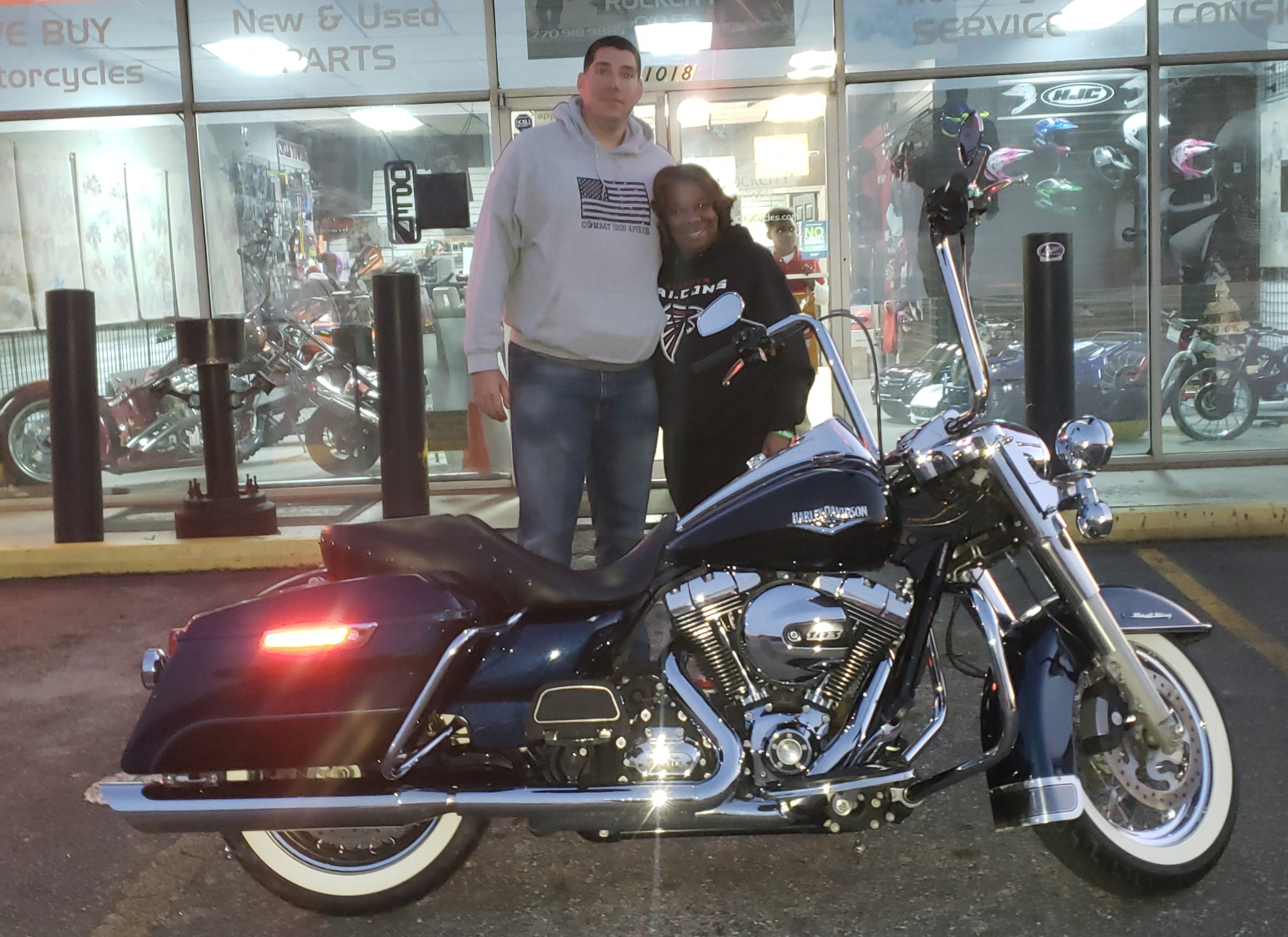 William O. with his 2014 Harley-Davidson Road King