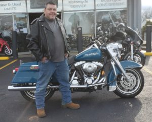 Edgar C. with his 2002 Harley-Davidson FLHR Road King