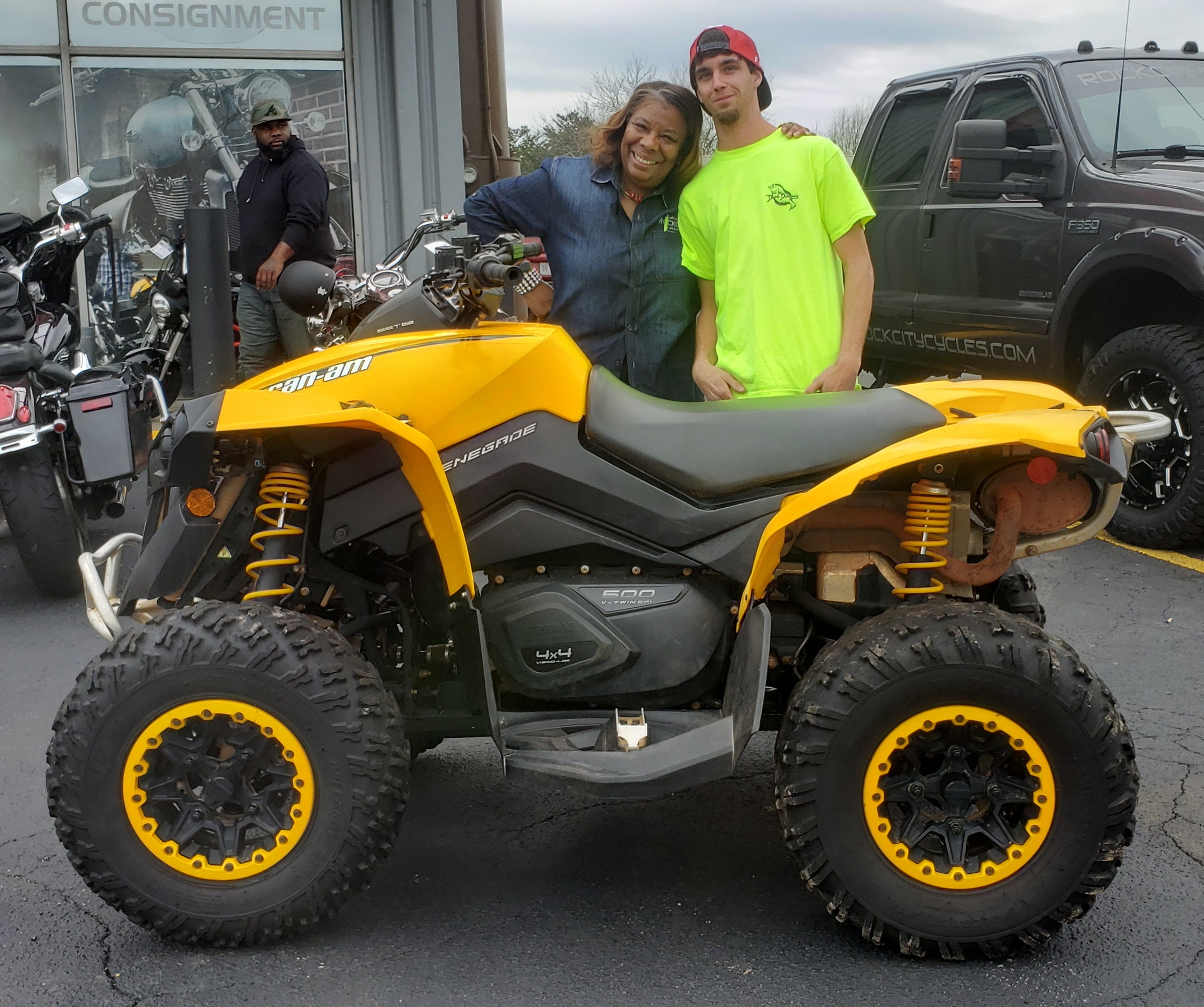 Matthew P. with his 2014 Can-Am Renegade 500 ATV