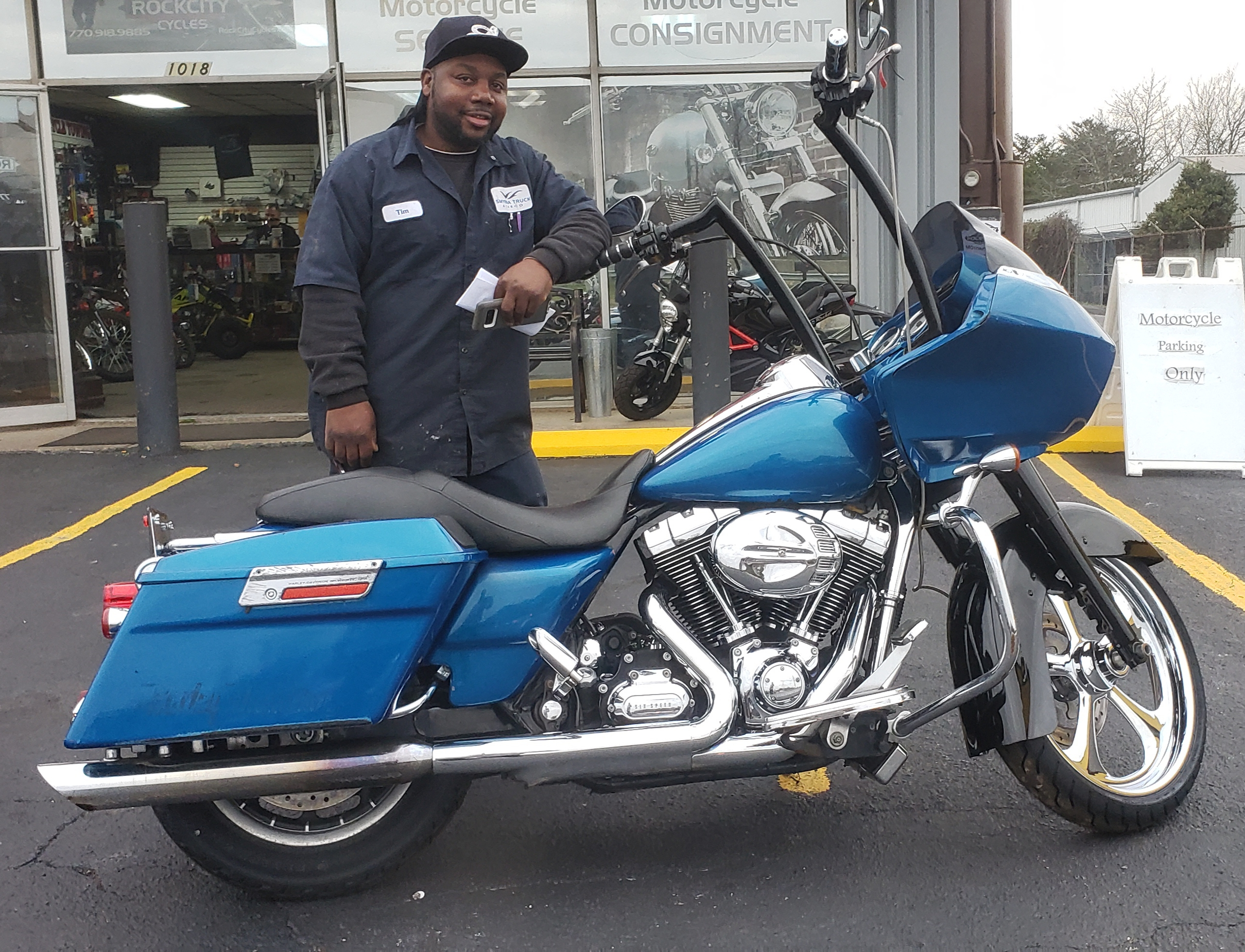 Tim A. with his 2008 Harley-Davidson FLTR Road Glide